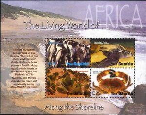 Gambia 2005 Penguins/Turtle/Crab/Plants/Birds/Nature/Animals 4v m/s (n17277c)