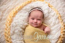Crochet Basket-YELLOW SHADES - Newborn Photography Prop