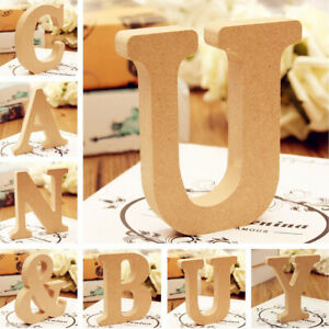 10x1-5cm thick Wood Wooden Letters Alphabet Wedding Birthday Home Decor DIY hOT
