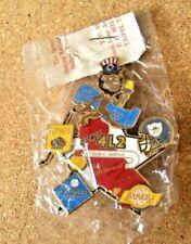 Lions Club pin Los Angeles 1984 Olympics Dodgers Kings Lakers Raiders 2 layer LA