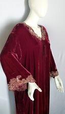 STUNNING 1970s VALENTINO Wine Red Velvet Caftan Robe Size LARGE