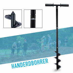 86cm Manual Earth Auger Fence Post Hole Bore Digger Hand Tool Garden Planter