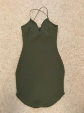 Boo Hoo Night BODYCON DRESS Khaki Green - SIZE 6