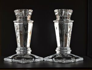 """Shannon by Godinger Empire Crystal Candle Stick Pair 6"""" each"""