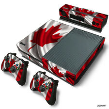 Xbox One Console Skin Decal Sticker Canada Flag + 2 Controller Custom Design Set