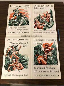 Lexington Independence John Paul Jones Washington World War 2 1942 Poster JKT1