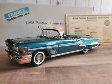 Danbury Mint 1958 Pontiac Bonneville Convertible 1:24 Scale Diecast Model Car