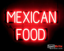 SpellBrite Ultra-Bright MEXICAN FOOD Sign Neon look LED performance