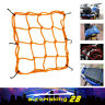 "Yellow 11.8"" x 11.8"" Bungee Cargo Net Luggage 6 Hook For Helmet Motorcycles ATV"