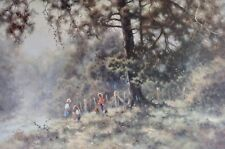 Ramon Ward-Thompson, Country Bus Stop, Children Waiting for School Bus.