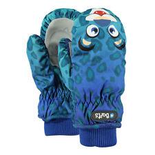 Barts Kinder Handschuhe Fäustlinge Wasserabweisend Nylon Leopard Blau SALE -50