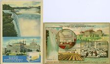 Niagara Falls NY The Home of Nabisco Shredded Wheat 2 card set