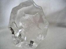 Paperweight Contemporary Original Crystal Scandinavian Art Glass