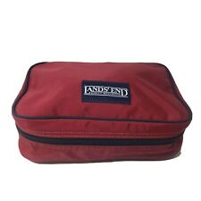 Lands End Everyday Red Travel Medium Hanging Toiletry Organizer Bag