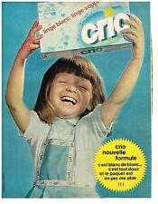 PUBLICITE ADVERTISING  1963   CRIO  nouvelle formule lessive