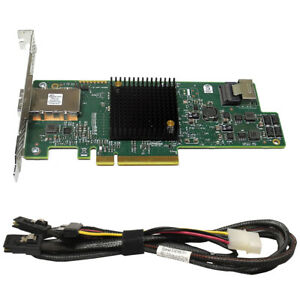 HP 660086-001 LSI SAS9205-4i4e 6 Gb/s PCI-E x8 + SAS Kabel 518885-002 519768-001