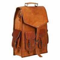 Vintage Laptop Backpack Rucksack Messenger Satchel Bag Genuine Organized Leather