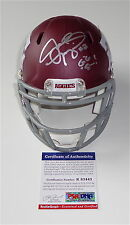 "JOHNNY MANZIEL SIGNED ""GIG 'EM!"" TEXAS A&M CUSTOM #2 MINI HELMET PSA COA R83443"