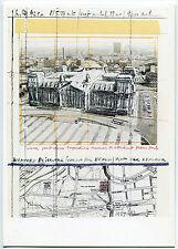 Berlino Christo Wrapped Reichstag camuffato schizzo uccelli guarda 1994