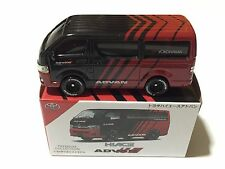 1/64 Toyota Hiace Yokohama Advan custom with tomica wheels - 2017 new