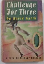 CHALLENGE FOR THREE DAVID GARTH POPULAR LIBRARY #84 1946 HOFFMAN COVER