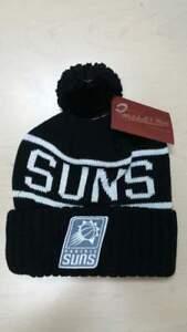 Mitchell & Ness NBA Phoenix Suns Team Logo Black Cuffed Pam Knit Beanie Hat Cap