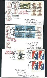 Three 1989 Airmail Covers Saipan Micronesia to West Pennant Hills NSW Australia