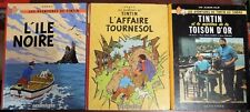 lot 3 BD TINTIN l'affaire tournesol l'ile noire la toison d'or