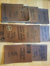Vintage Caterpillar Parts Catalogs