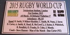 World Cup 2015 All Blacks Champions Silver Sublimated Plaque