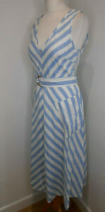 BNWT Kate Spade Deck stripe midi dress belted fit and flare US 4 UK 8 10 NEW