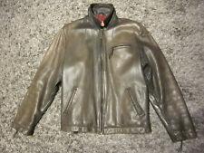 Levis Lederjacke grau Gr. L Motorradlederjacke Harley Vintage Kult dickes Leder