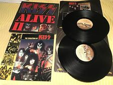 "KISS ""Alive II"" EX/VG+ With Printed Inner Sleeves And ""Evolution Of Kiss"" Book!"