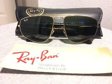 Vintage Ray Ban Bausch and Lomb Gold W1083 Fashion Metal 58mm Sunglasses