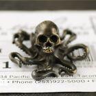 Vintage Skull Octopus Figurine Desktop Decoration Brass Skeleton Animal