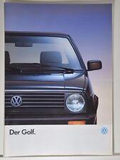 VW Volkswagen Golf 2 CL GL GT GTD SPECIAL prospectus 01/1990