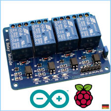 4 Kanal Relais 5V/230V Raspberry Pi Optokoppler Modul Channel Relay Arduino