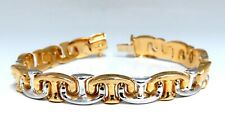 American Link Intertwined Gold Bracelet 14kt Two Toned