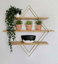 Diamond Shelf, Geometric Floating Shelf, Modern, Home Decor, Handmade, Wood and