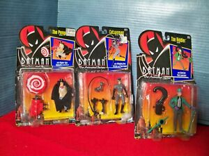 Batman Animated Series Action Figures Lot Penguin Catwoman Riddler Kenner