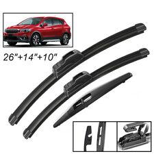 3Pc Front Rear Windshield Wiper Blades Set For Suzuki SX4 /SX4 S-Cross 2006-2020