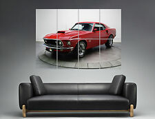 Ford Mustang Boss 429 Classic Car  Wall Art Poster Grand format A0 Large Print