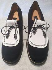 Stuart Weitzman Gortex  Black and White Golf Shoes  Size 10B