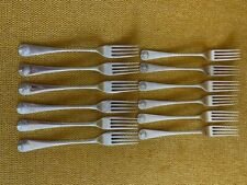 "Stieff WILLIAMSBURG SHELL Sterling Silver 6-1/2"" Salad Fork"
