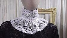 White lace Jabot pirate Gothic Lolita Victorian Steampunk  tie  COLLAR 4926