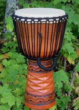20x11 Pro 3 Ring Deep Carved Geometric Djembe Bongo Hand Drum - Blemish Discount