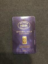 .5 Gram 999.9 Fine Gold Bullion Bar Igr Istanbul Goldgram in Assay