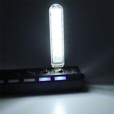 1pcs Mobile Power USB White LED Lamp 8 LED Lamp Computer Mini Night Light