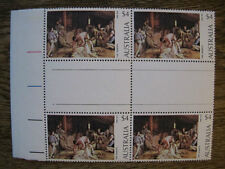 1974 Australian Paintings Tom Roberts - $4 Gutter Block of 4 Autotron Lines MNH