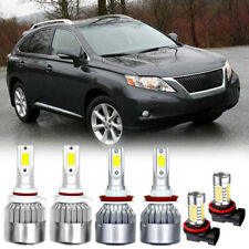 For Lexus RX350 2010-2015 6x LED High Low Beam Headlight Fog Light Bulbs 6000K